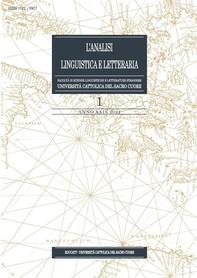 Analisi Linguistica e Letteraria 2021-1 - Librerie.coop