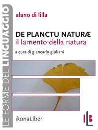 Il lamento della natura. De planctu naturae - Librerie.coop