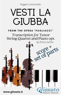 Vesti la giubba - Tenor, Strings and Piano opt. (score & parts) - Librerie.coop