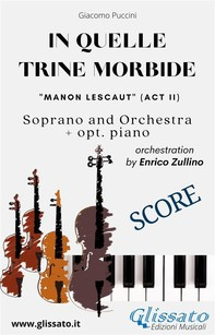 """""""In quelle trine morbide"""" for soprano and orchestra (Score) - Librerie.coop"""