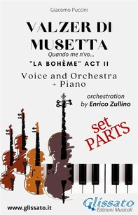 Valzer di Musetta - Voice, Orchestra and Piano (Parts) - Librerie.coop