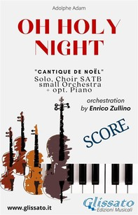 O Holy Night - Solo, Choir SATB, small Orchestra and Piano (Score) - Librerie.coop