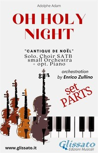 O Holy Night - Solo, Choir SATB, small Orchestra and Piano (Parts) - Librerie.coop