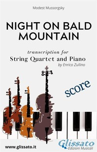 Night on Bald Mountain - String Quartet and Piano (score) - Librerie.coop
