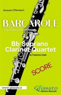 Barcarole -  Soprano Clarinet Quartet (score) - Librerie.coop