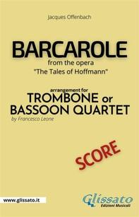 Barcarole - Trombone or Bassoon Quartet (score) - Librerie.coop