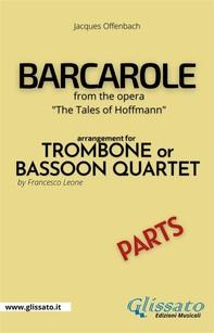 Barcarole - Trombone or Bassoon Quartet (parts) - Librerie.coop