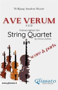 Ave Verum (Mozart) - String Quartet score & parts - Librerie.coop
