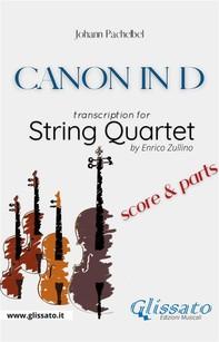 """""""Canon in D"""" by Pachelbel - String Quartet score & parts - Librerie.coop"""