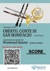 Oberto,Conte di San Bonifacio - Woodwind Quintet - Score - Librerie.coop