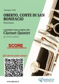 Oberto,Conte di San Bonifacio (overture) Clarinet Quintet - Score - Librerie.coop