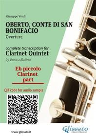 Oberto,Conte di San Bonifacio (overture) Clarinet Quintet/Ensemble - Parts - Librerie.coop