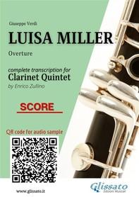 Luisa Miller - Clarinet Quintet (Score) - Librerie.coop