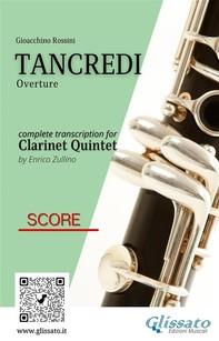 Tancredi - Clarinet Quintet (Score) - Librerie.coop