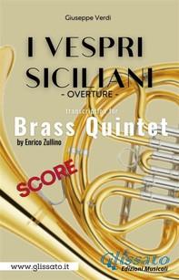 I Vespri Siciliani - Brass Quintet (score) - Librerie.coop