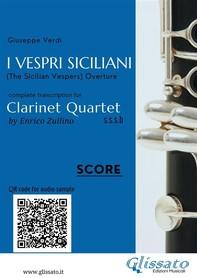 I Vespri Siciliani - Clarinet Quartet (score) - Librerie.coop