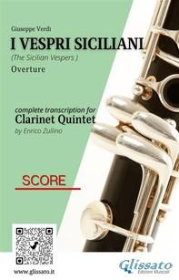 I Vespri Siciliani - Clarinet Quintet (score) - Librerie.coop