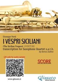 I Vespri Siciliani - Sax Quartet (score) - Librerie.coop