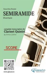 Semiramide - Clarinet Quintet (score) - Librerie.coop