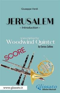 Jerusalem - Woodwind Quintet (score) - Librerie.coop