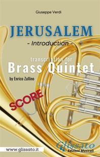 Jerusalem - Brass Quintet (score) - Librerie.coop