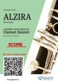 """""""Alzira"""" overture - Clarinet Quintet (score) - Librerie.coop"""