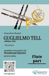 """Flute part of """"Guglielmo Tell"""" for Woodwind Quintet - Librerie.coop"""