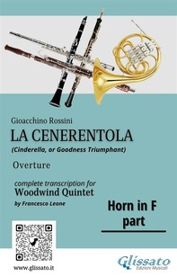 """French Horn in F part of """"La Cenerentola"""" for Woodwind Quintet - Librerie.coop"""