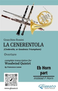 """French Horn in Eb part of """"La Cenerentola"""" for Woodwind Quintet - Librerie.coop"""
